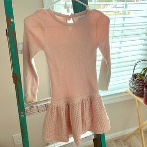 Blush/Gold Sparkles Girls size 6x sweater dress
